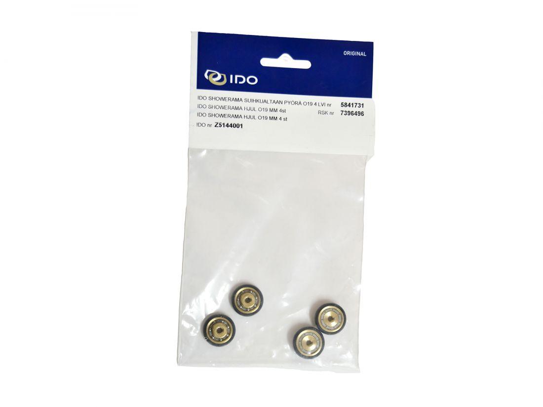 Комплект роликов (4 шт | 19 мм) душевой кабины IDO Showerama Z5144001